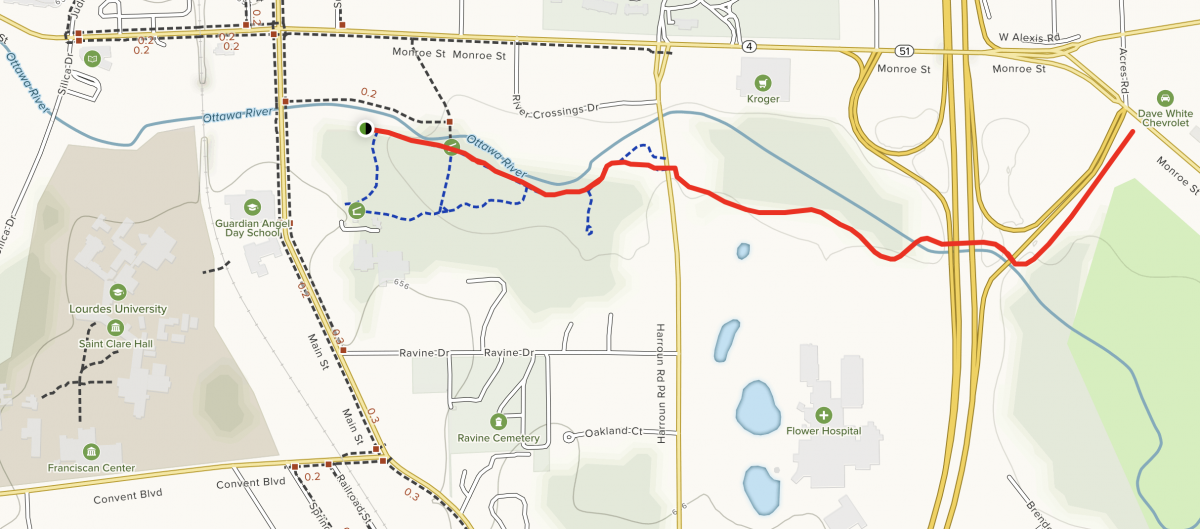 Sylvania River Trail Map
