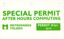 Metroparks Special Permit